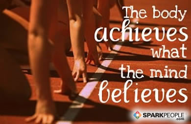Motivational Quote - The body achieves what the mind believes.