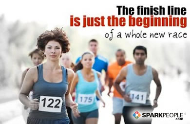 Motivational Quote - The finish line is just the beginning of a whole new race.