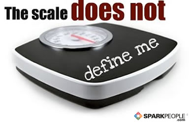 Motivational Quote - The scale does not define me.