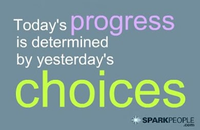 Motivational Quote - Today's progress is determined by yesterday's choices.