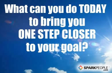 Motivational Quote - What can you do today to bring you ONE STEP CLOSER to your goal?