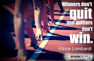 Motivational Quote - Winners don't quit and quitters don't win.