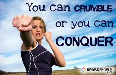 Motivational Quote - You can crumble or you can conquer.