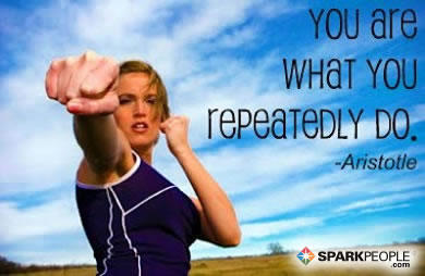 Motivational Quote - You are what you repeatedly do.