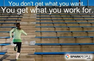 Motivational Quote - You don't get what you want. You get what you work for.