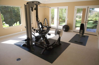 6 essentials for your home gym slideshow sparkpeople - Home workout equipment small space ideas ...
