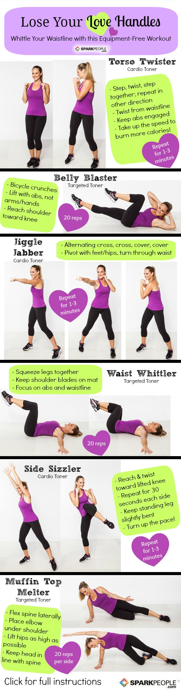 The 'Lose Your Love Handles' Workout | SparkPeople
