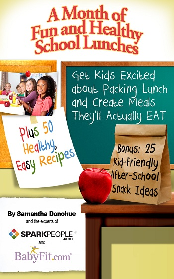 Book Cover School Lunches ~ A month of fun healthy school lunches sparkpeople