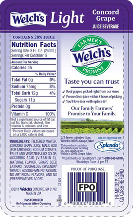 Welch S  Juice Grape Food Label