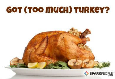 7 easy delicious ways to eat leftover turkey sparkpeople for What do people eat on thanksgiving