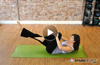 10 Minute Beginner S Pilates Workout Video Sparkpeople