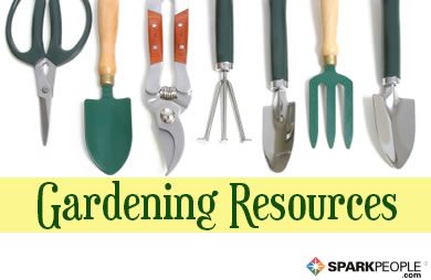 Recommended gardening resources sparkpeople for Gardening tools names 94