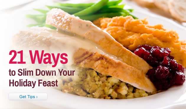 21 Ways to Slim Down Your Holiday Feast