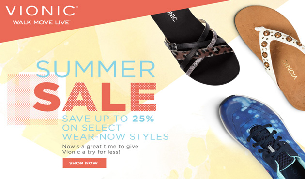 Vionic_Top Stories_Lookbook_Summer Sale
