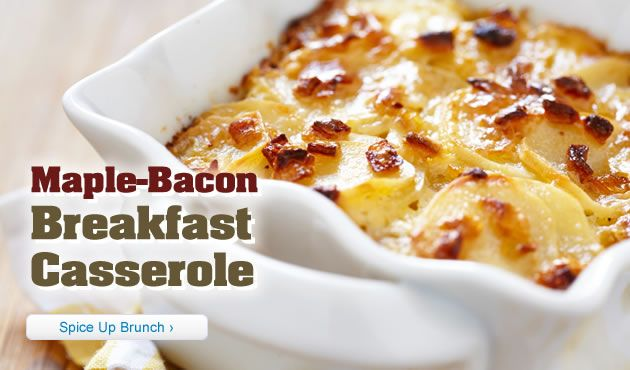 Maple Bacon Breakfast Casserole