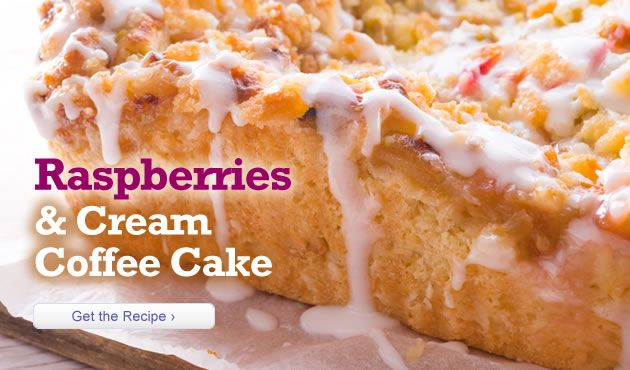 Raspberries and Cream Coffee Cake
