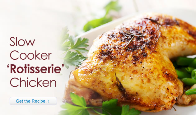 Slow Cooker 'Rotisserie' Chicken