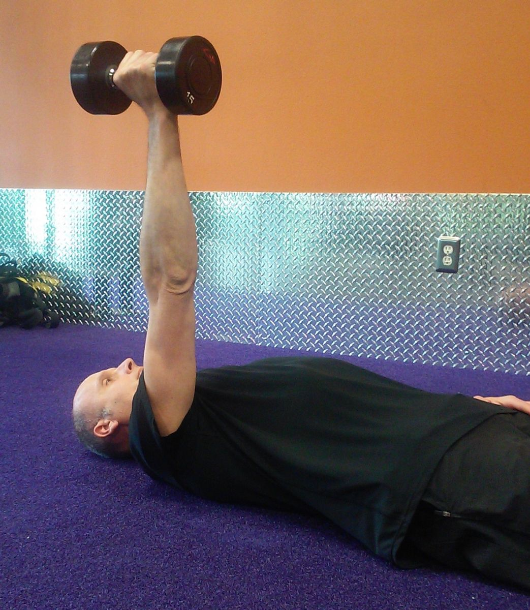 Exercise Of The Week Dumbbell Floor Press: 10 Effective Exercises You Can Do With A Single Dumbbell