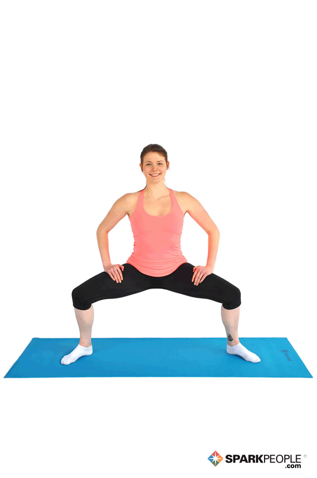 Inner Thigh Squat Stretch Exercise