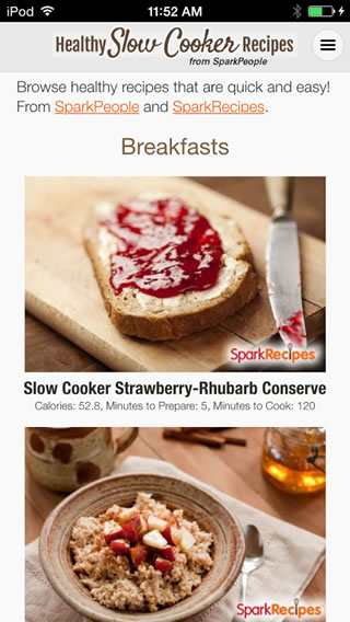 Healthy slow cooker recipe app sparkpeople forumfinder Images