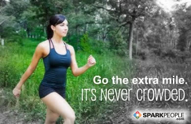 Motivational Quote - Go the extra mile. It is never crowded.