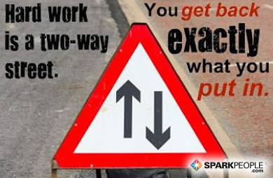 Motivational Quote - Hard work is a two-way street. You get back exactly what you put in.