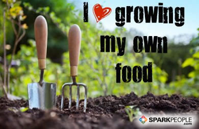 Motivational Quote - I <3 growing my own food