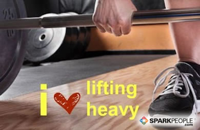 Motivational Quote - I <3 lifting heavy