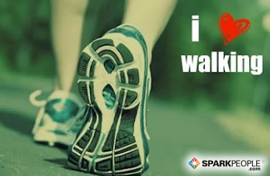 Motivational Quote - I <3 walking