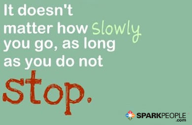 Motivational Quote - It doesn't matter how slowly you go, as long as you do not stop.