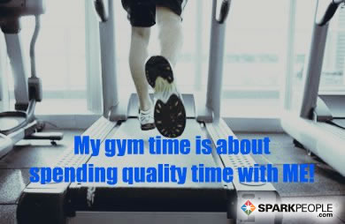 Motivational Quote - My gym time is about spending quality time with ME!
