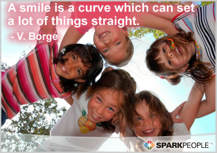 Motivational Quote - A smile is a curve which can set a lot of things straight.