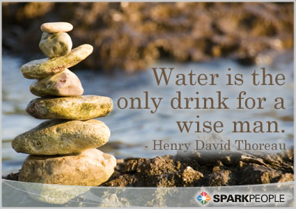 Water Is The Only Drink For A Wise Man Sparkpeople