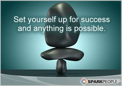 Motivational Quote - Set yourself up for success and anything is possible.