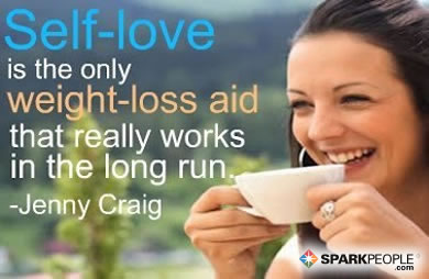 Motivational Quote - Self-love is the only weight-loss aid that really works in the long run.