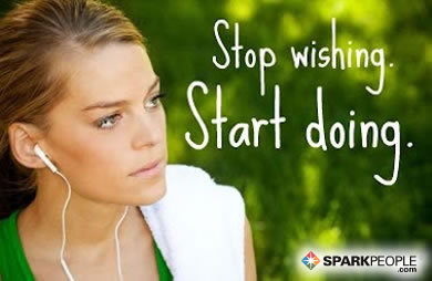 Motivational Quote - Stop wishing. Start doing.