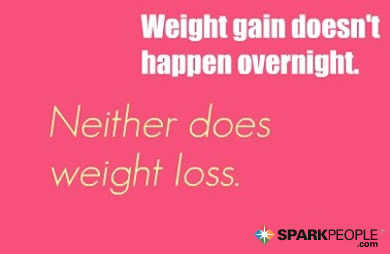 Motivational Quote - Weight gain doesn't happen overnight. Neither does weight loss.