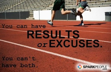 Motivational Quote - You can have results or excuses. You can't have both.