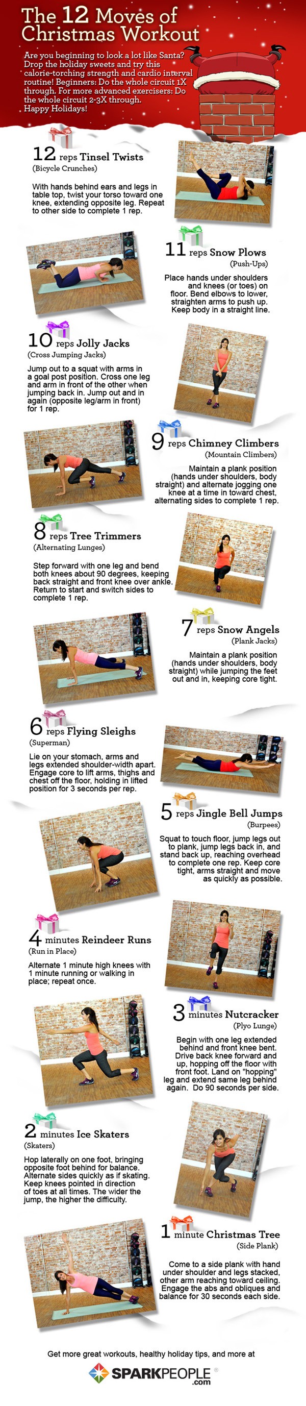 The 12 Moves of Christmas Workout