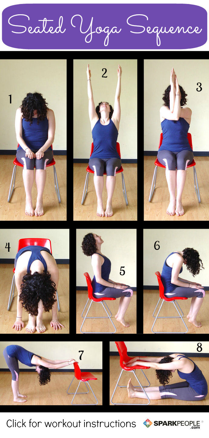 photograph regarding Printable Chair Yoga Routines titled 8 Seated Yoga Poses On your own Can Do in opposition to a Chair SparkPeople