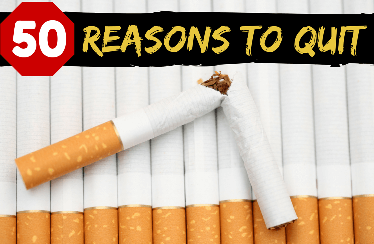 No Butts About It: 50 Reasons to Quit Smoking