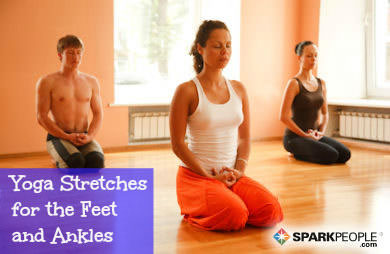 yoga stretches for the feet and ankles  sparkpeople