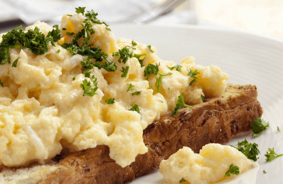 soft scrambled eggs