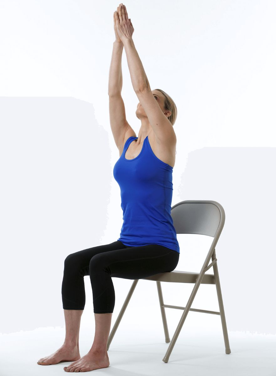 Release Stress Right At Your Desk With 5 Chair Yoga Moves Sparkpeople