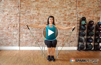 7-Minute Seated Arm Workout with Band Video | SparkPeople