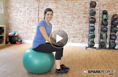 5 Minute Beginner Abs Workout With Ball Video