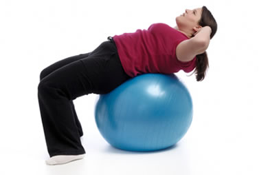 Image result for exercise ball  for obese women