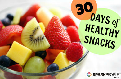 30 days of healthy snacks sparkpeople