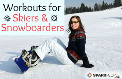 Workouts for Skiers and Snowboarders | SparkPeople